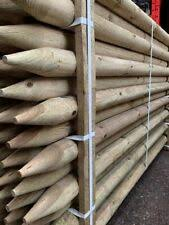 Garden Fencing X 50mm Round Pointed Pressure Treated Fence Post 12 X 2 1m 7ft Tree Stake Sarathaarts Ac In