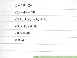 how to solve algebraic equations with