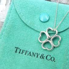 co 4 heart clover pendant necklace