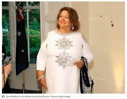 Gina Rinehart attend White ...