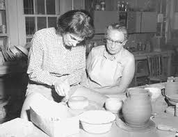 Instructor Hilda Ross and pottery class, Summer School of Visual Art - UBC  Library Open Collections