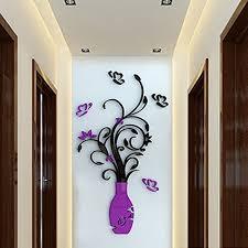 crystal acrylic 3d flower vase wall