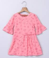 pink dresses frocks for infants