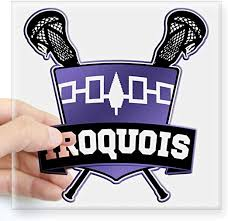 Amazon Com Cafepress Iroquois Nation Flag Lacrosse Logo Sticker Square Bumper Sticker Car Decal 3 X3 Small Or 5 X5 Large Home Kitchen