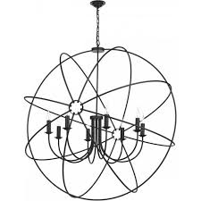 orb gyroscope ceiling pendant light