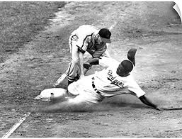 Amazon Com Canvas On Demand Jackie Robinson As A Member Of The Brooklyn Dodgers 1949 Wall Decal 24 X18 Posters Prints