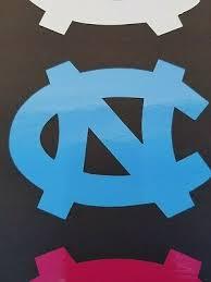 North Carolina Tarheels Nc In Blue 4 Vinyl Decal Car Truck Window Sticker Unc Exterior Accessories Bumper Stickers Decals Magnets