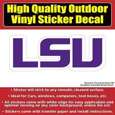 Louisiana State University Tigers Lsu Vinyl Car Window Laptop Bumper S Colorado Sticker