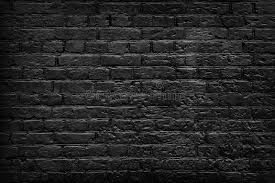 old black brick wall background stock