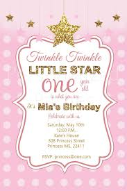 Cool Twinkle Little Star Birthday Invitations Free Ideas Check
