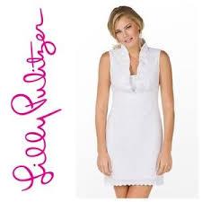 Lilly Pulitzer Dresses | Adeline White Eyelet Dress Us 14 | Poshmark