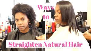 straightening natural hair