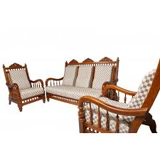 teak wood sofa set 3 seater 1 1 with