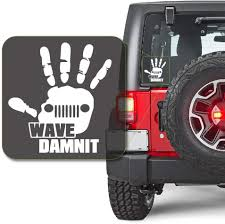 Amazon Com Off Road Truck Wave Dammit Damnit Decal Sticker For Car Window Laptop And More 1046 6 X 5 5 White Arts Crafts Sewing