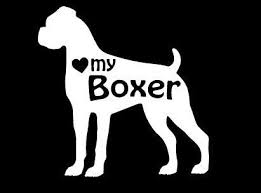 Love My Boxer Dog Vinyl Car Decal Sticker By Rockpaperscissors24 Boxer Dogs Boxer Love Boxer Dog