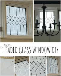 faux leaded glass window tutorial