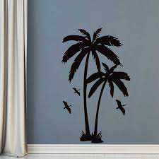 183cm X 112cm Large Palm Trees Wall Sticker Tall Palms With Birds Vinyl Wall Art Sticker For House Decoration Free Shipping Palm Tree Wall Sticker Tree Wall Stickerwall Sticker Aliexpress
