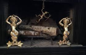 andirons victorian fireplace