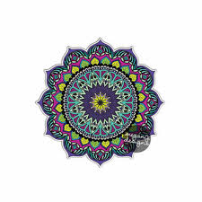 Mandala Sticker Colorful Car Decal From Meganjdesigns