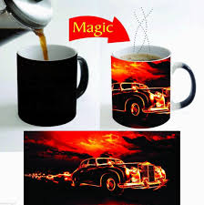 Hot Fire Car Mugs Coffee Mugen Tea Mugs Heat Sensitive Hot Changing Color Heat Reactive Magic Mugen Travel Mug Home Decal Affiliate Tea Mugs Mugs Kitchen