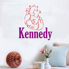 Personalized Name Human Heart Wall Decal Sticker Nursery For Home Decor Krafmatics