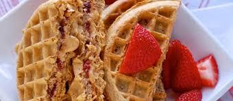 peanut er and jelly waffle sandwich