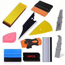 Foshio Vinyl Carbon Fiber Film Wrapping Squeegee Razor Scraper Sticker Remover Car Wrap Tool Auto Window Tint Hand Tools Kit Windowinabox