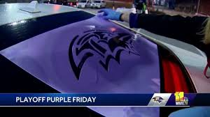 Fans Have Purple Friday Fever At Ravens Stencil Event Youtube