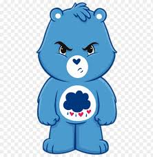 Care Bear Png High Quality Image Sticky Pig Care Bears Grumpy Bear Wall Graphic Decal Png Image With Transparent Background Toppng
