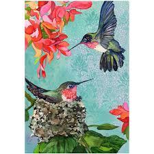cranford group hummingbirds garden flag