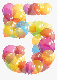 Number 5 Balloons Png , Png Download - Transparent Number Balloons ...