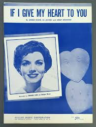 If I Give My Heart To You Denise Lor Sheet Music Piano 1953 Crane ...