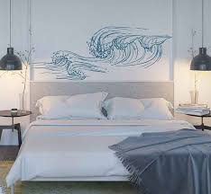 Wave Wall Decals Ocean Wave Wall Decals Ocean Beach Waves Wall Stickers Ocean Wall Decals Sea Wall Decal Stickers For Bedrooms Kik3415 By Artw Decoracion De Unas