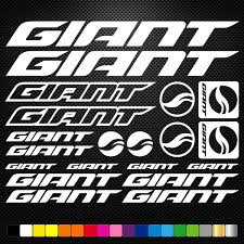 Giant Vinyl Decal Stickers Sheet Bike Frame Cycle Cycling Bicycle Mtb Road In 2020 Vinyl Decal Stickers Bicycle Bike Stickers