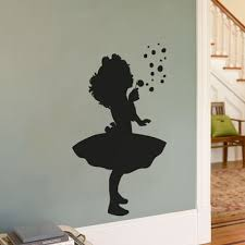 Pin By Maria Cosg On For The Home Kids Room Wall Decals Dandelion Wall Decal Girl Silhouette