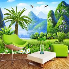 طبيعة المشهد مخصص 3d صور خلفيات كبيرة جدارية خلفية اللوحة غرفة