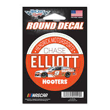 Chase Elliott Wincraft Hooters 3 Round Decal