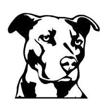 Pitbull Head Vinyl Decal Sticker Car Truck Dog American Pit Bull Breed Pet Food Ebay