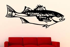 Bass Fish Wall Decal Wall Decals Nuovocreations Com Nuovocreations