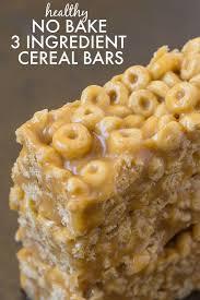 healthy 3 ing no bake cereal bars