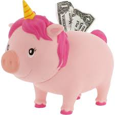unicorn piggy bank biggys lilalu