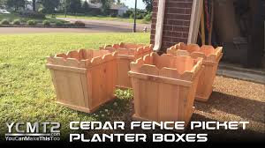 Cedar Fence Picket Planters Youcanmakethistoo
