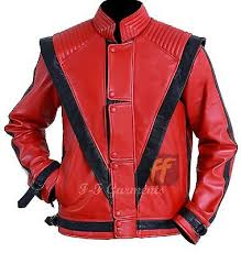 mens real red leather jacket