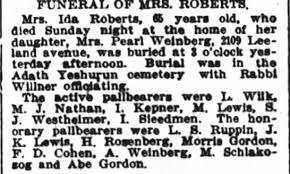Obituary for Ida ROBERTS - Newspapers.com