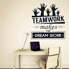 Office Wall Stickers Vinyl Applique Artwork Teamwork Makes Dreams Come True Wall Decals Living Wall Decals Home Decor D332 Wall Stickers Aliexpress