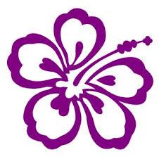 Hibiscus Flower V2 Decal Sticker