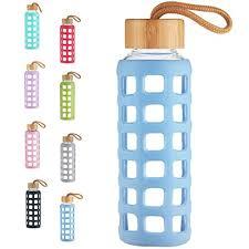 cleesmil bpa free glass water bottle