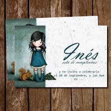 Tarjeta De Invitacion Imprimible Munecas Gorjuss Nina 60 00 En