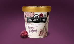homemade brand ice cream perspective