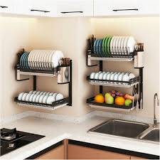 wall shelf kitchen spice rack storage